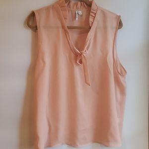 4/$25 Elle XL Semi Sheer Peach Blouse